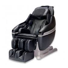 massage chair and footstool. inada sogno dreamwave™ genuine leather massage chair and footstool