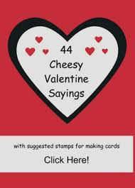 44 Valentine Sayings With Suggested Stamps