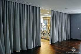 wall curtain grey gray long curtain divider room separation yoga studio curtain room dividers wall curtains ideas