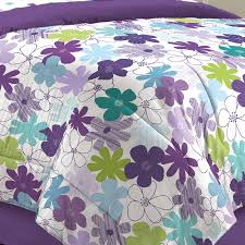 first at home graphic daisy bed in a bag bedding set purple com