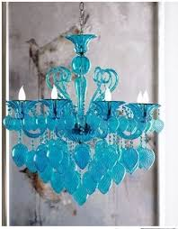accessories intended for well liked turquoise blown glass chandeliers view 1 of 10