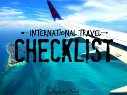 International Travel Checklist Hungry For Travels Packing Tips