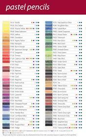 Pastel Color Code Chart Derwent Pastel Pencils Colour Chart Google Search In 2019