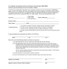 Letter Termination Of Lease Agreement Sample Apartment Early