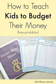 Teaching Budgeting Worksheets How To Teach Kids To Budget Their Money Free Printables