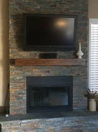 fireplace mantel shelf for tv