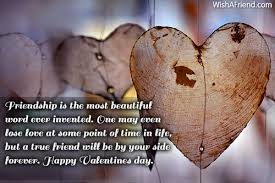 Friendship Is The Most Beautiful Word Valentines Day Message For Extraordinary Most Beautiful Friendship Images
