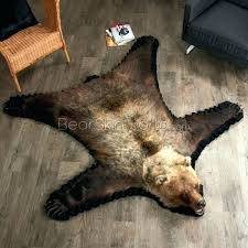 real fur rugs bl rug grizzly bear skin 5 foot 4 inch animal uk faux in white area