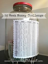 Life As You Live It 52 Week Money Savings Challenge