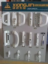 sliding glass door locking mechanism post