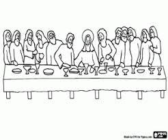 Kleurplaat Het Laatste Avondmaal Van Jezus Kleurplaten