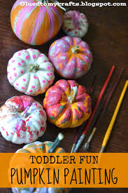 toddler fun pumpkin painting craft these are so cute love the colors