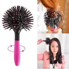 Korean Bomb Curl 3D Hair Brush <b>360 Degree Ball Styling</b> Blow ...