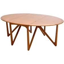 kurt ostervig for jason mobler danish modern drop leaf dining table regarding prepare 4