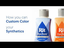 How To Use Rit Dyemore For Synthetic Fibers
