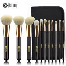harga murah feiyan makeup brushes set 11pcs face foundation powder blush eye cosmetic brush kit professional