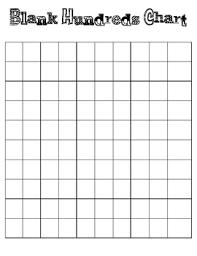 Blank Hundreds Chart Hundreds Chart And Blank Hundreds Chart