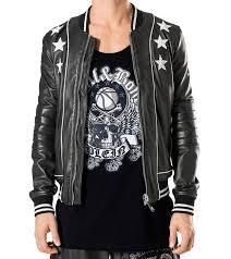 2018 star embroidery leather jacket new fashion autumn winter men leather jacket brand clothing motorcycle jacket quality male leather coat men from fozhewo