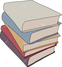 a simple cartoon style drawing of a stack of books this file is vector