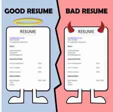 good and bad resumes