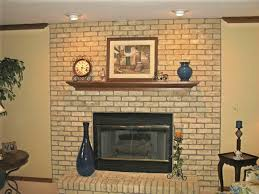 image of ideas painted brick fireplace makeover