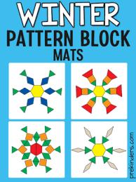 Pattern Block Template Delectable Pattern Block Mats PreKinders