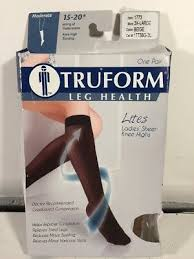 Jomi Compression Size Chart Truform 15 20 Mmhg Compression Sheer Knee High Stockings