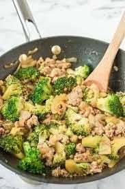 ground turkey stir fry with broccoli