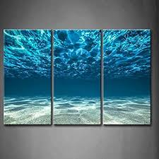 home office artwork. Print Artwork Blue Ocean Sea Wall Art Decor Poster Artworks For Homes 3  Panel Canvas Prints Home Office Artwork