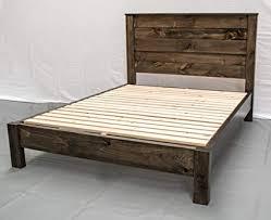 Image Platform Image Unavailable Amazoncom Amazoncom Rustic Farmhouse Platform Bed Headboard King