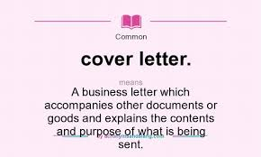 Cover Letter Means What Does Cover Letter Mean Definition Of Cover Letter