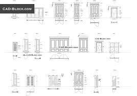 doors cad blocks autocad file