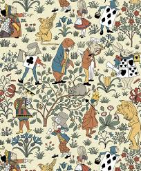 ALICE IN WONDERLAND Designed C.1930 This Pattern Was Drawn Quite Late In  Voyseyu0027s Career And During Very Hard Financial Times Still Speaks To The  Designeru0027s ...