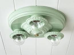 vintage flush mount ceiling light rewired vintage flush mount ceiling light fixture chandelier jadeite mint green