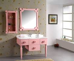Bathroom:Fashionable Pink Bathroom Idea With Drawer Under Sink Idea  Beautiful Bathroom Storage Ideas With