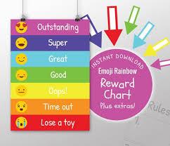 Behaviour Chart Printable Reward Chart Kids Behaviour Chart Etsy