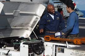 U S Navy Chief Yeoman Antonio Franklin Left Trains Airman