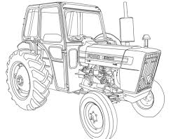 Tractor Ford 3600 Coloring Page Coloring Pages Kids Cars