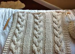 Chunky Cable Knit Throw Blanket Pattern