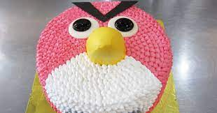 Hot Buns Bakery Recent Creations: Angry Bird Made With Buttercream