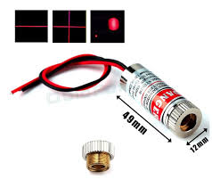 5mw adjule focus laser module with crosshair beam pattern 90 degree fan angle k9 gl