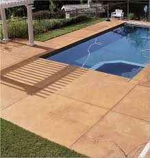 as the trend toward backyard resorts continues imprinted concrete is a popular choice