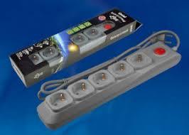 <b>Фильтр сетевой Uniel S</b>-<b>GSU5</b>-<b>3</b> GREY 3м Universal, купить в ...