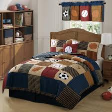 laura hart kids classic sports full queen quilt with 2 shams qs6090fq 2300 the home depot