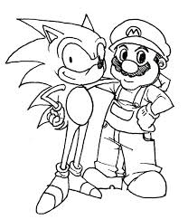 Sonic And Tails Coloring Pages Sonic Tails Coloring Pages Free