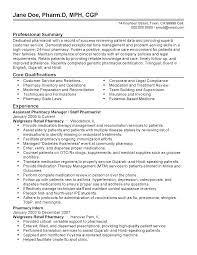 Resume Templates: Assistant Pharmacy Manager