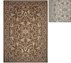 veranda living indooroutdoor reversible 7 x 10 scroll rug page 1 u2014 qvccom outdoor rug79