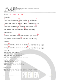 Chord Chart In X P 1 In 2019 Music Chords Bethel Music