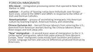 u s history since unit chapter vocabulary ppt 3 foreign immigrants