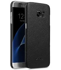 melkco premium genuine leather snap cover case for samsung galaxy s7 edge black lc